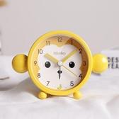 全館83折小鬧鐘學生用創意男孩時鐘卡通可愛迷你兒童簡約靜音個性鐘錶擺件