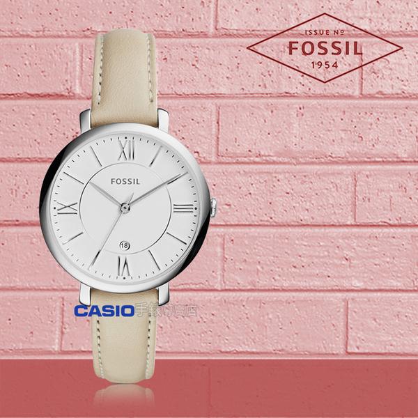 FOSSIL 手錶 專賣店 ES3793 女錶 石英錶 皮革錶帶  防水 礦石強化玻璃 全新品 保固一年 開發票