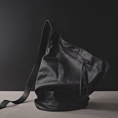 肩背包-真皮黑色簡約休閒牛皮男斜背包73ut23[巴黎精品]