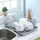 瀝水架 不銹鋼廚房瀝水碗架大號碗碟架置物架碗筷晾放架廚房收納架瀝水籃 【夏日新品】