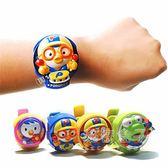 韓國進口pororo小企鵝玩具寶寶兒童電子手錶卡通音樂玩具手錶 秘密盒子