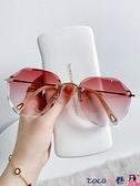 墨鏡 墨鏡女2021年新款潮夏季海邊防曬紫外線太陽眼鏡開車眼睛大臉顯瘦 coco
