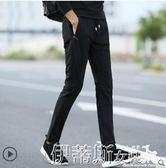 運動褲春夏季男士褲子韓版潮流休閒褲修身直筒薄款寬鬆透氣彈力運動 伊蒂斯女裝