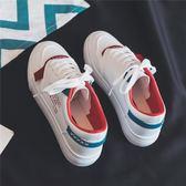 小白鞋皮面小白鞋女春季新款百搭基礎韓版學生秋季板鞋休閒鞋白鞋潮 伊莎公主