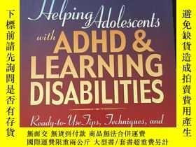 二手書博民逛書店Helping罕見Adolescents with ADHD & Learning 英文版 品好 書品如圖 避免爭