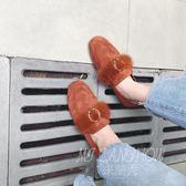 平跟毛毛鞋 淺口百搭樂福鞋 軟底單鞋