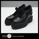 厚底鞋 復古休閒鞋 黑色增高鞋 瑪麗珍鞋...