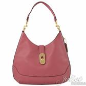 茱麗葉精品【專櫃款 全新現貨】COACH 48635 復古金屬飾扣肩背彎月包.莓粉