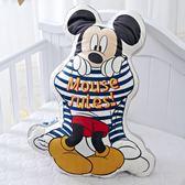 正版授權  抱枕 靠枕 40公分 午睡枕 玩偶枕 大頭 米奇 micky 迪士尼 造型 抱枕
