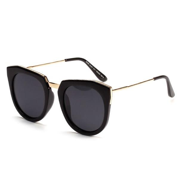 OT SHOP太陽眼鏡‧抗UV400‧韓國復古方框墨鏡‧金屬細框鏡腳/水銀鏡片‧五色‧現貨‧N06