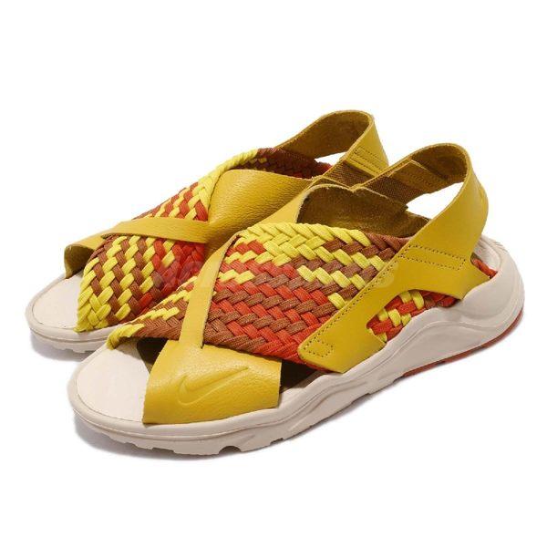 【四折特賣】Nike 涼鞋 Wmns Air Huarache Ultra 黃 咖啡 武士鞋 時尚涼鞋 涼拖鞋 女鞋【PUMP306】 885118-701