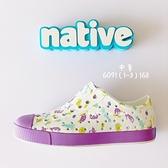 《7+1童鞋》中童 Native海底樂園 防水洞洞鞋 休閒鞋 6091 紫色