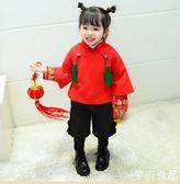 拜年服過年寶寶服冬喜慶女小童唐裝拜年服女寶寶中國風過年服嬰兒周歲服
