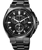 CITIZEN 鈦 金屬萬年曆5局電波腕錶-黑/43mm BY0044-77E