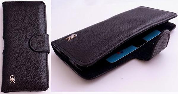 HTC Butterfly S(901e) 真皮薄型 腰掛手機套 加購長鍊可斜揹