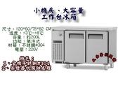 台製4尺風冷全藏工作台冰箱/大容量不銹鋼工作台冰箱/279L/小機房工作台冰箱/桌下型冷藏櫃/大金