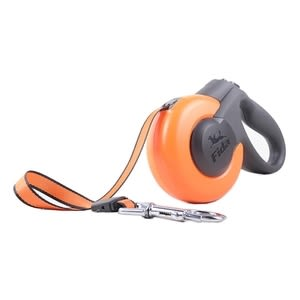 【crazypaws瘋狂爪子】【FIDA】寵物伸縮牽繩 / 尺寸:M鮮橙橘