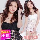 韓風時尚價 任選一件7折 白/黑 M~XL 蕾絲碎花兩件式泳衣 比基尼 溫泉SPA泡湯 仙仙小舖