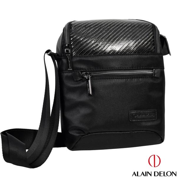 ALAIN DELON 極簡時尚風亮皮側背包