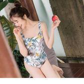 《VC0067》夏日印花連身泳衣 OrangeBear