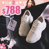 任選2雙788運動鞋時尚流線造型交叉繫帶運動鞋休閒鞋【02S10501】