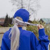 韓版ins帽子女夏天原宿時尚百搭個性棒球帽潮男藍色長帶子鴨舌帽 至簡元素