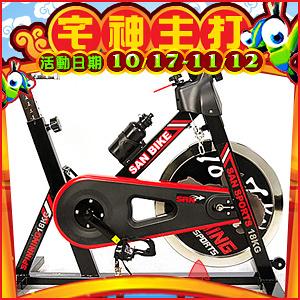 EDM宅神主打:黑爵士18KG飛輪健身車4倍強度.18公斤飛輪車.室內腳踏車.推薦【SAN SPORTS】