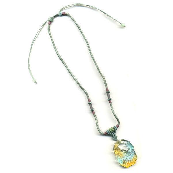 鹿港窯~居家開運水晶琉璃項鍊~秋菊 ◆附精美包裝◆免運費送到家