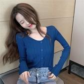 特惠 秋冬新款修身顯瘦針織打底衫女內搭v領上衣套頭毛衣百搭長袖t恤潮