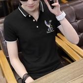 男士短袖t恤翻領打底衫男青年潮流T恤上衣服夏季新款polo男裝半袖『摩登大道』