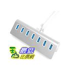 [104 美國直購] Sabrent HB-MAC7 集線器 Premium 7 Port Aluminum USB 3.0 Hub with 5V/4A Power Adapter (30 cable) $1983