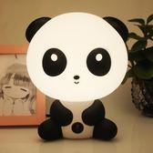創意卡通可愛節能臺燈禮品熊貓兒童房臥室插電床頭燈LED燈小夜燈WY 七夕情人節