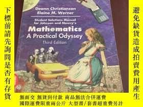 二手書博民逛書店Mathematics罕見A Practical Odyssey