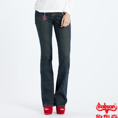 BOBSON 女款鑽飾小喇叭褲(9026-53)