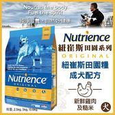 *WANG*美國Nutrience紐崔斯《田園糧-中大成犬(雞肉+蔬果)》5公斤