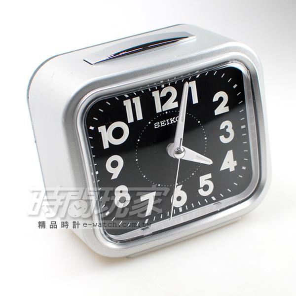 SEIKO 精工錶 響鈴 靜音 貪睡鬧鐘 鬧鈴 鬧鐘 QHK023S 銀色