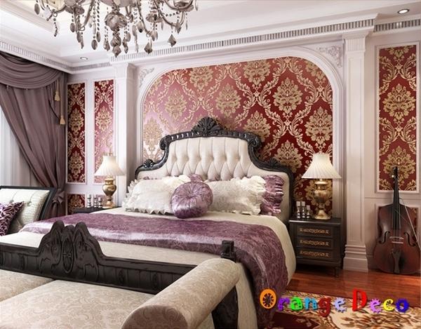 壁貼【橘果設計】鑲鑽大馬士革系列壁紙(酒黃)10米長DIY組合壁貼 牆貼 壁貼 室內設計 裝潢