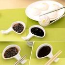 筷子架 陶瓷 盤子 盤 夾式 沾醬 碟沙拉 調味醬 蕃茄醬 糖醋醬 碗盤 夾式沾醬盤 小置物盤【RS406】