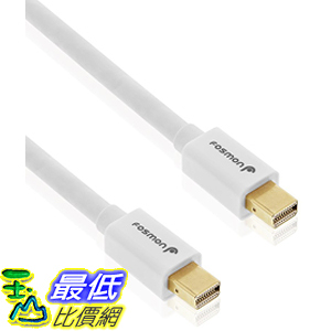 [美國代購] Fosmon (10 FT) HD8056 - UL Certified - Gold Plated Mini DisplayPort Cable (Mini DP/mDP) 連接線