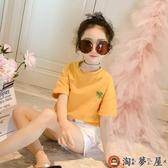 女童短袖兒童全棉t恤夏裝打底衫夏季上衣【淘夢屋】