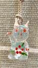 【震撼精品百貨】招財貓_招き猫~日本招財貓吊飾/鑰匙圈-透明#01281
