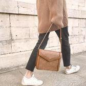 小瑞靚包復古紋理軟皮小方包包女斜背包女單肩小包包    至簡元素