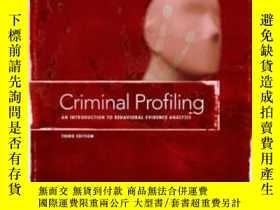 二手書博民逛書店Criminal罕見Profiling, Third EditionY364682 Brent E. Turv