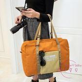 (低價促銷)可折疊旅行包行李袋拉桿女韓版手提包出差便攜包防水收納包大容量