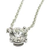 Tiffany & Co 蒂芬妮 Solitaire 0.61CT 單顆鑽石鉑金鍊墜【二手名牌 BRAND OFF】