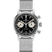 Hamilton 漢米爾頓INTRA-MATIC 正熊貓手上鍊計時機械錶(H38429130)