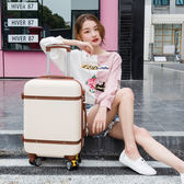 韓版行李箱女小清新皮箱拉桿箱男萬向輪24寸大學生登機箱20旅行箱T 萬聖節