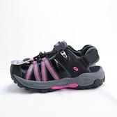 LOTTO 排水護趾涼鞋 磁扣 反光 拖涼鞋兩穿 女款 LT0AWS1700 黑桃【iSport愛運動】