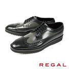 【REGAL】雕花德比厚底皮鞋 灰色(W35B-BLGY)