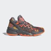 Adidas D.O.N. Issue 2 GCA 男款灰橘色運動籃球鞋-NO.FX7432